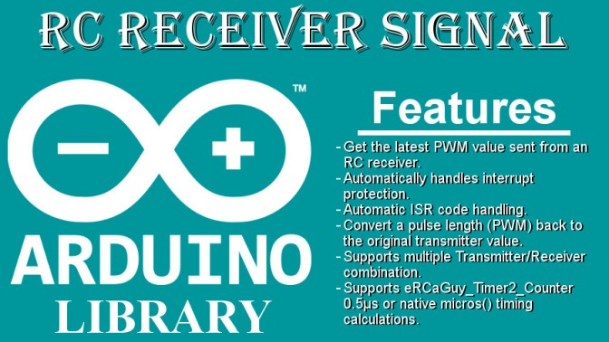 RcReceiverSignal: an arduino library for retrieving the RC