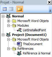 ListInstalledFonts - Module installé sous Normal